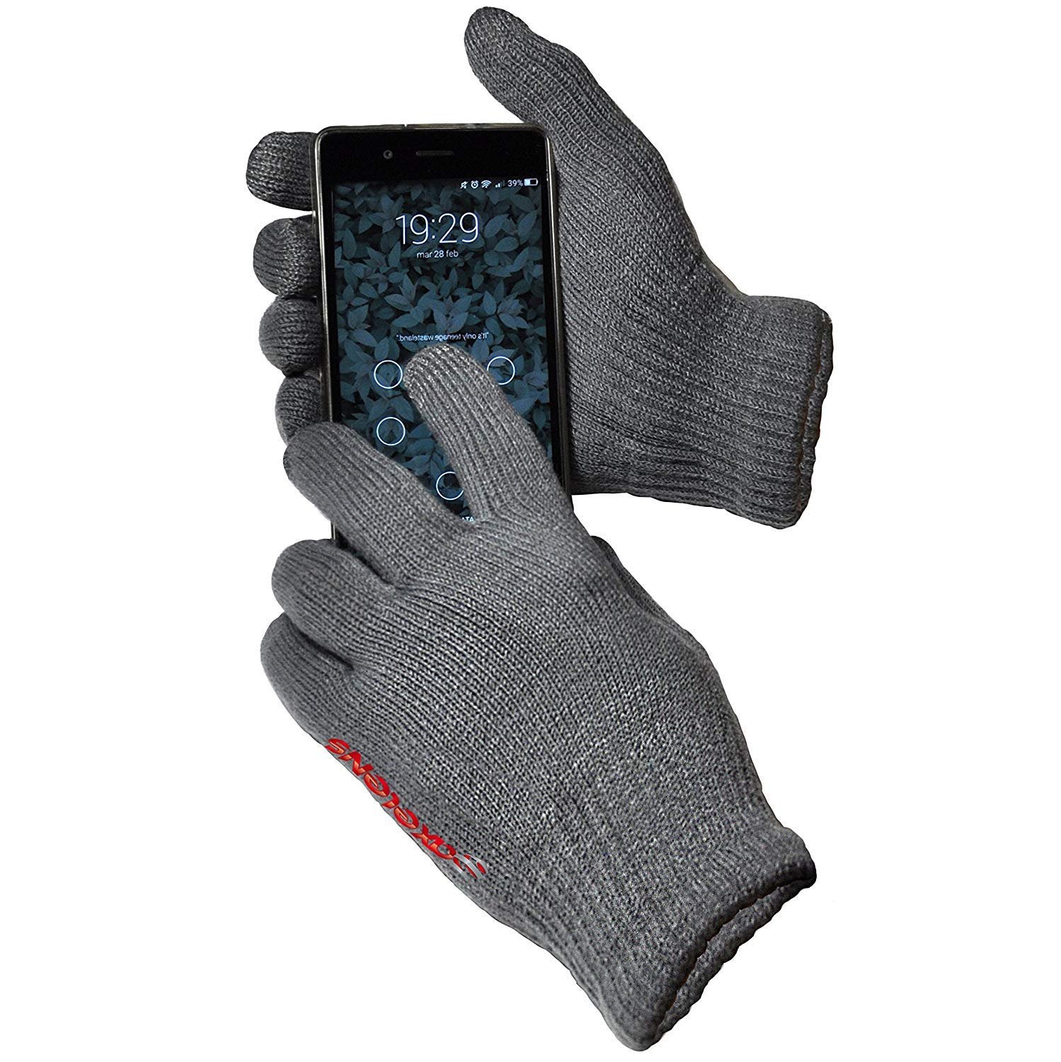 Plush Interior AXELENS Capacitive Touch Screen Gloves For Smartphone ORANGE Unisex Universal