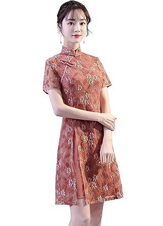 ... Amazon com Smakke Woman Chinese Traditional Clothing Qipao Chinese 7e22b8cf2325