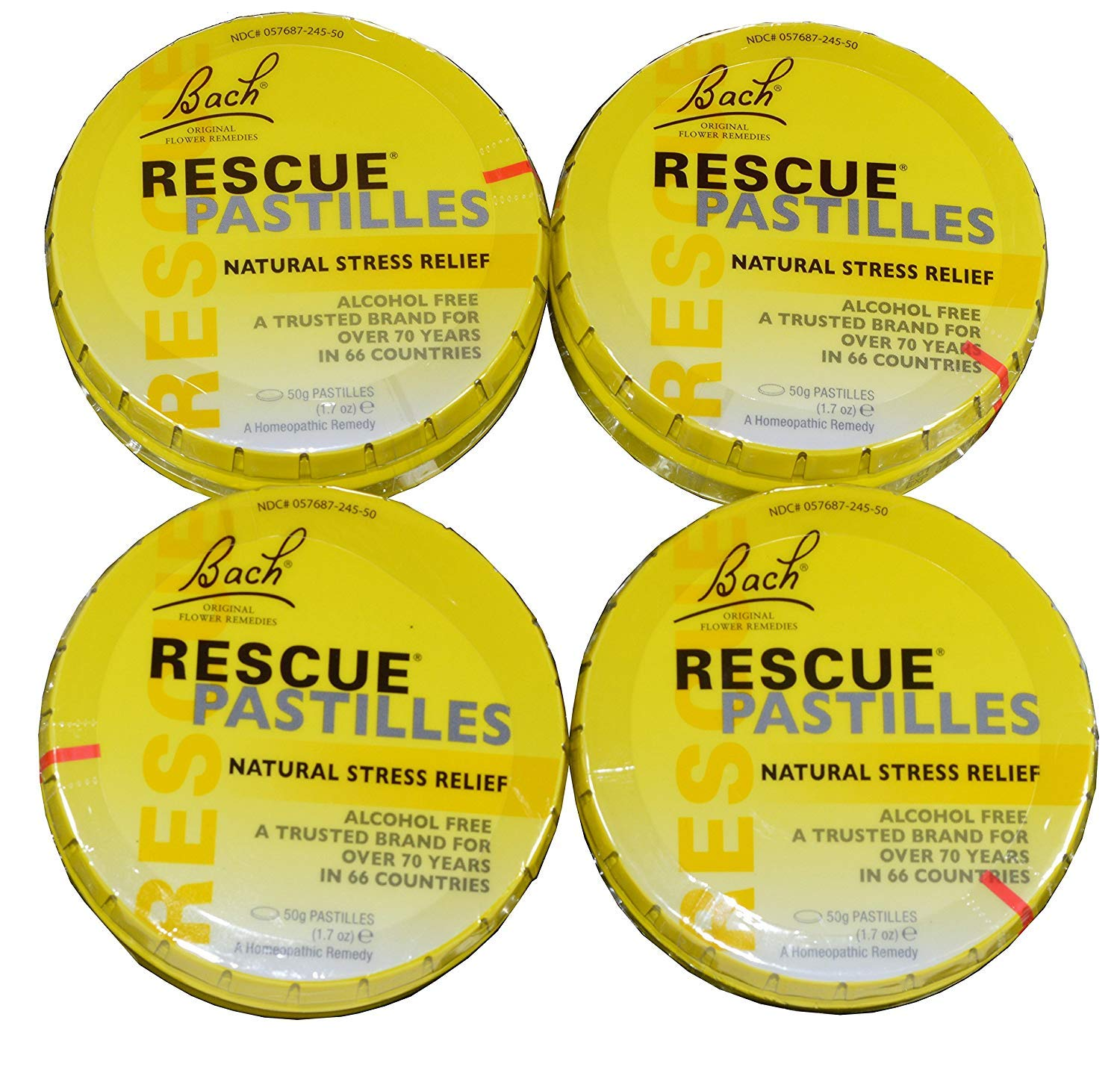 Bach Rescue Natural Pastilles Pack of 4 by Nelson