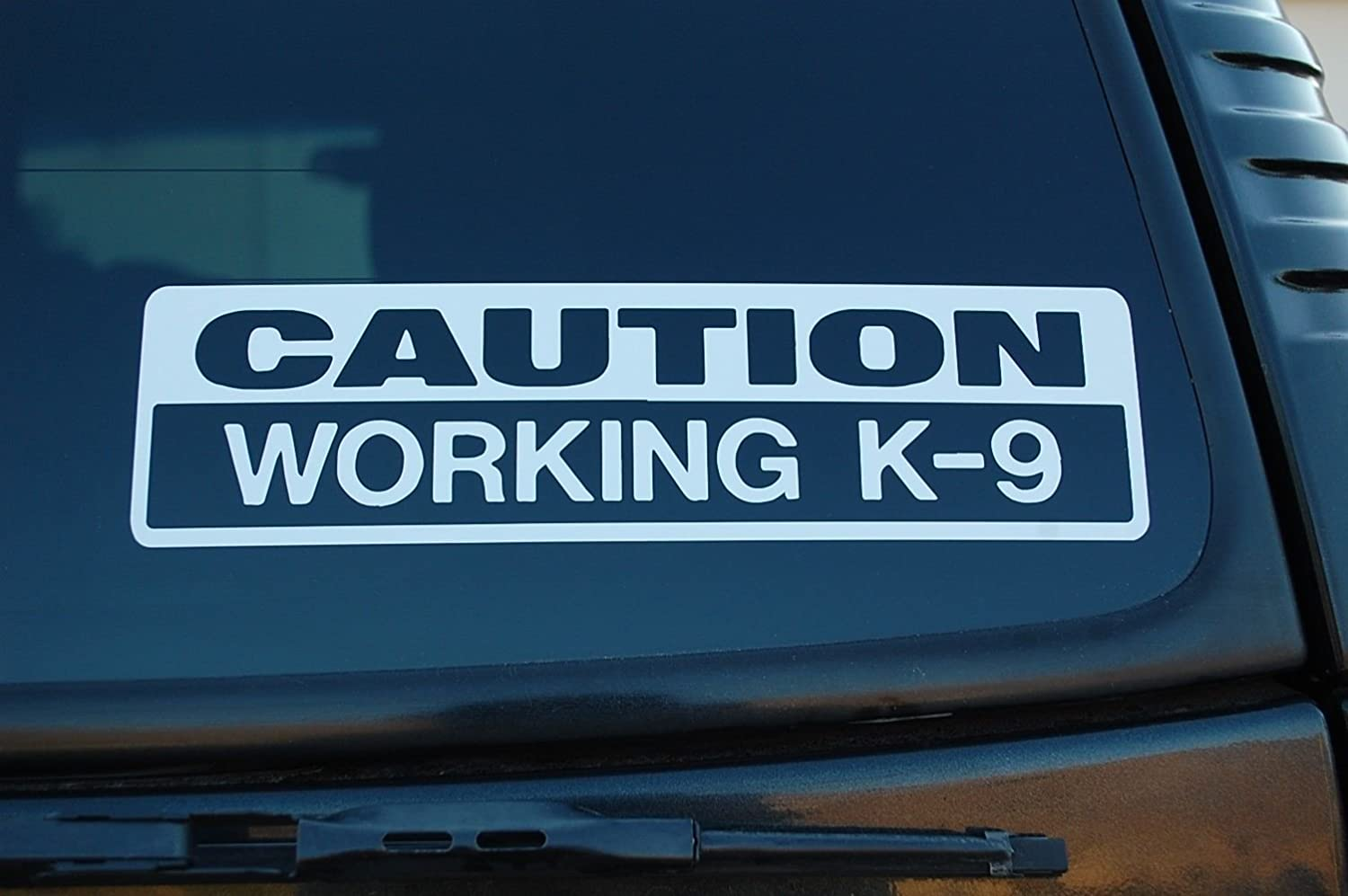 Caution K 9 Stickers For Car