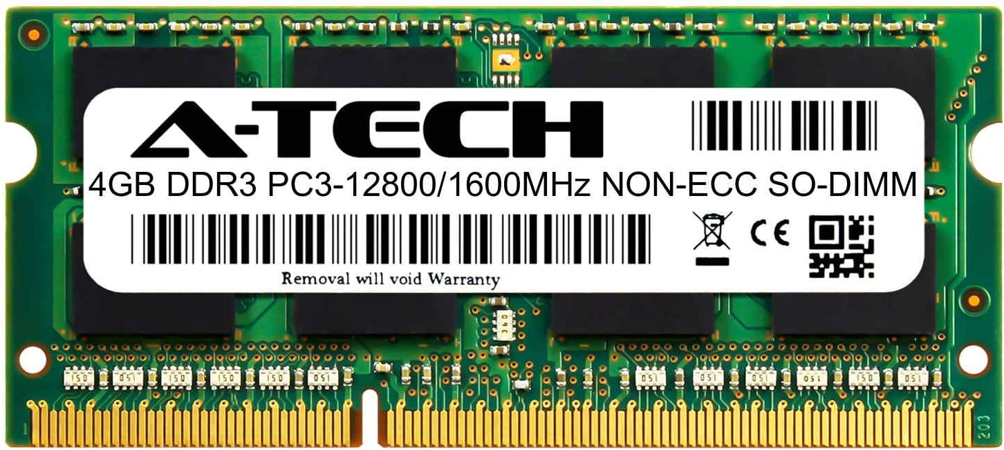 A-Tech 4GB Module for HP 20-c023w All-in-One Compatible DDR3/DDR3L 1600MHz PC3-12800 Non-ECC SODIMM 1.35V - Single Laptop & Notebook Memory RAM Stick (ATMS275390A12034X1)