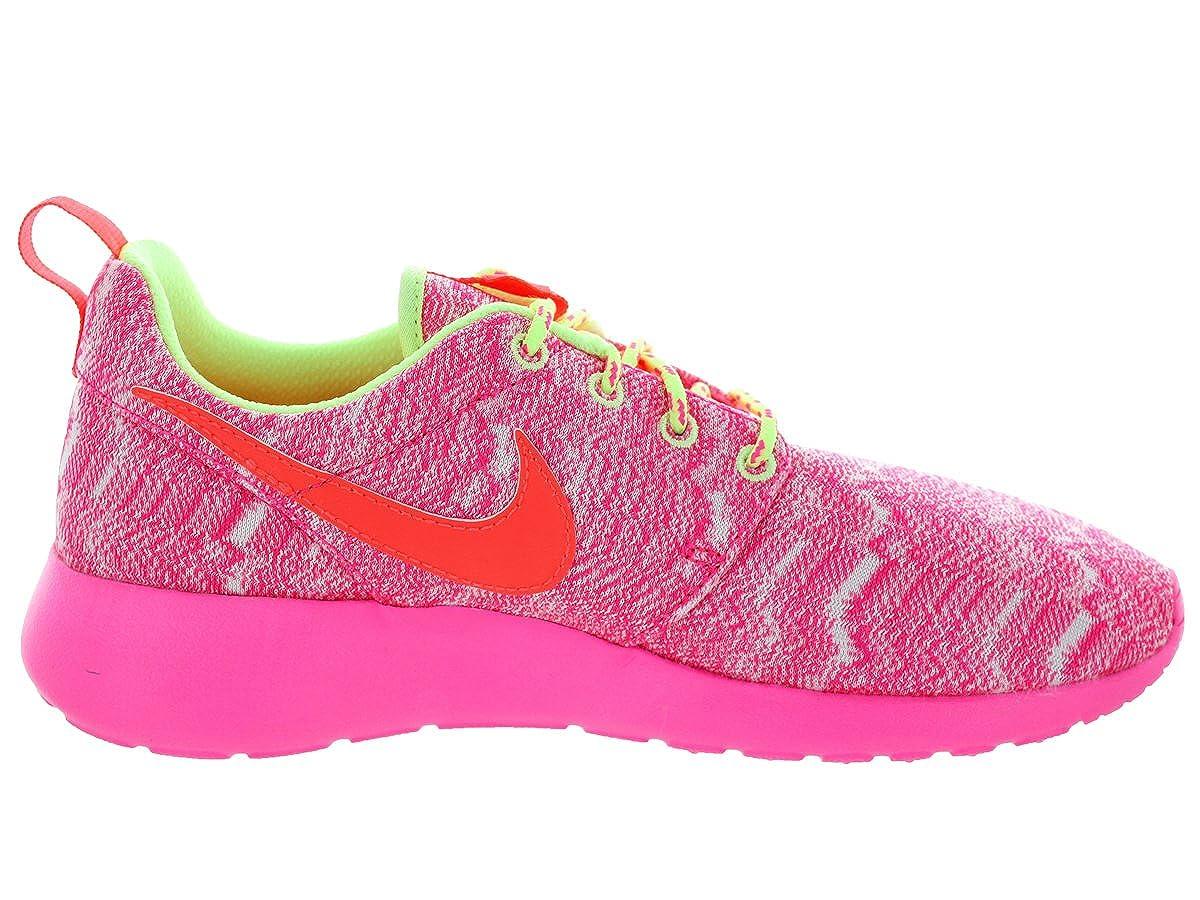 White//Hot Lava//Lqd Lime//Pnk Pw Running Shoe Kids US Nike Kids Rosherun GS