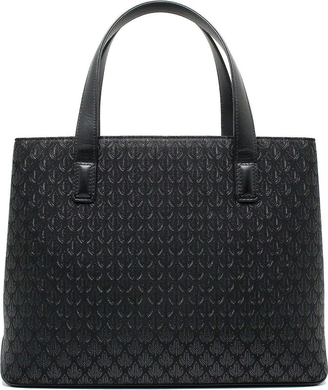 印傳屋 印伝 鞄 カバン 手提げバッグ 6330 若松 (黒×黒) B0069II8VA