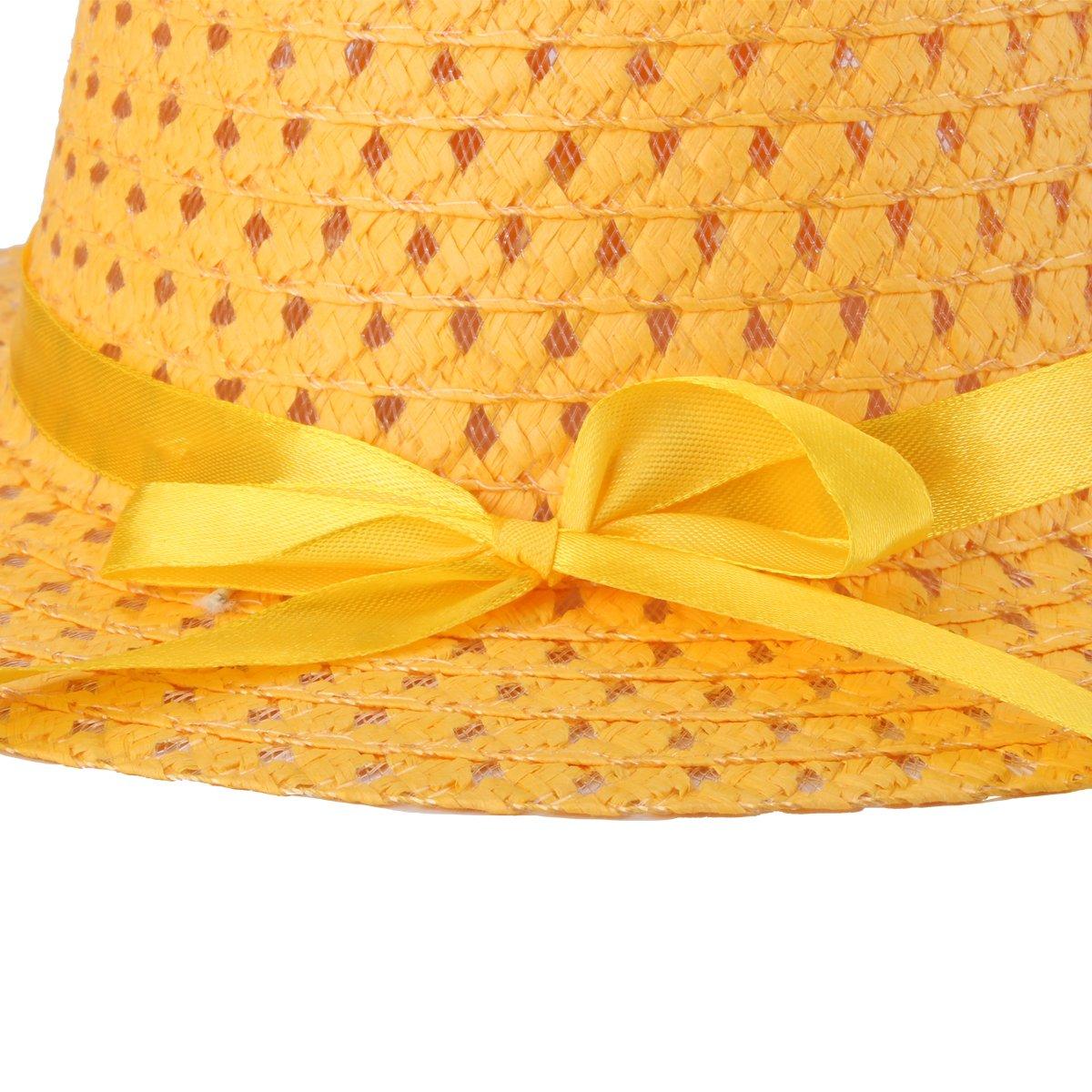 Girls Sun Hat Straw Summer/Hats/for/Kids Floppy Beach Cap with Purse