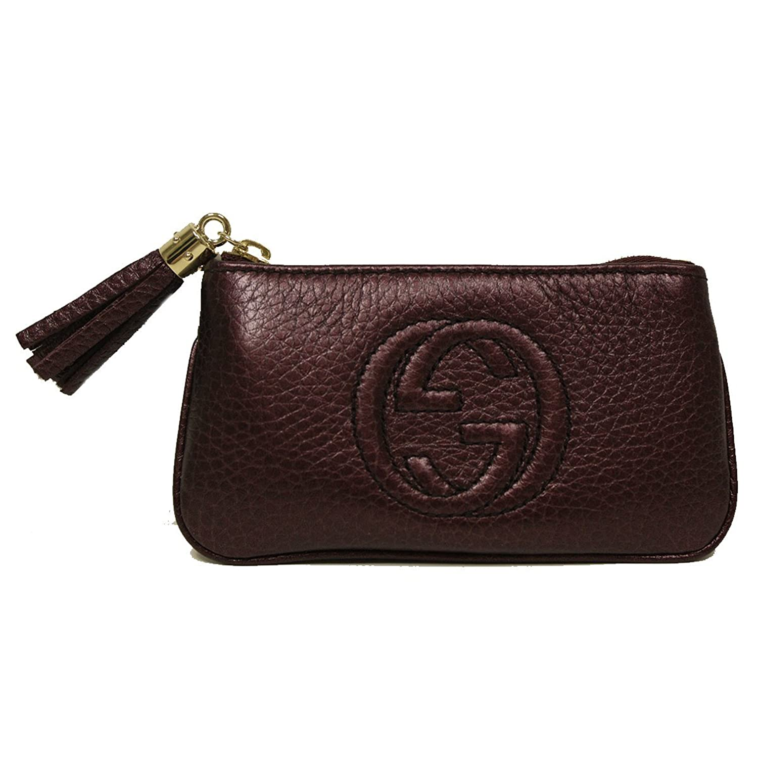 Amazon gucci soho burgundy plum leather tassel clip keychain amazon gucci soho burgundy plum leather tassel clip keychain wallet 354358 shoes magicingreecefo Images
