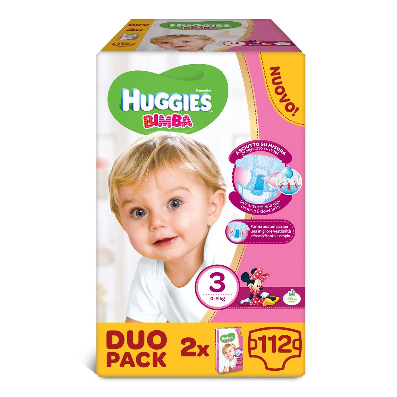 Huggies - Bimba - Pañales - Talla 3 (4-9 kg) - 2 x 56 pañales: Amazon.es: Salud y cuidado personal