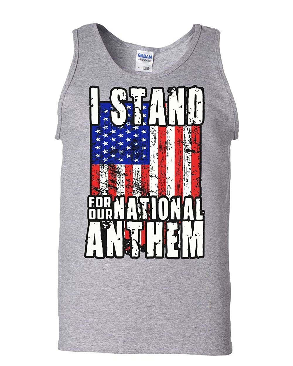 Tee Hunt Stand for Our National Anthem Tank Top US Flag Patriot Pow MIA Sleeveless