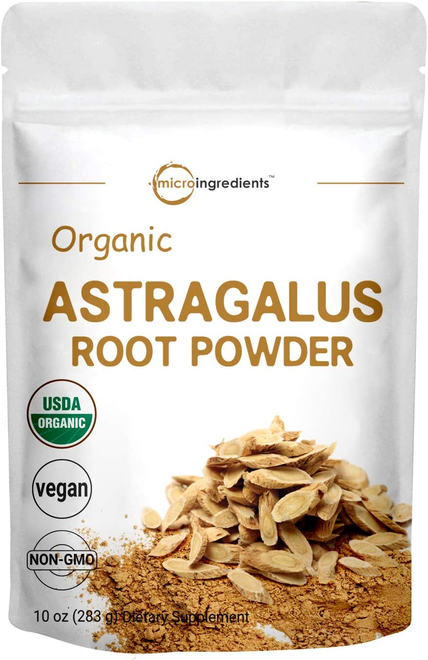 Micro Ingredients Organic Astragalus Extract Powder, 10 Ounce, Pure Astragalus Supplement, Supports Cardiovascular Health and Immune System, Non-GMO and Vegan Friendly