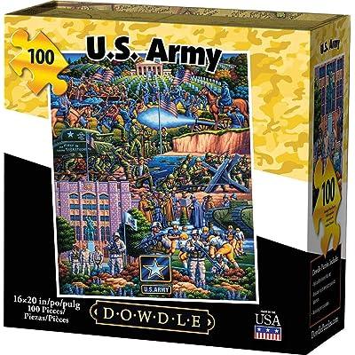 Dowdle Jigsaw Puzzle - U.S. Army - 100 Piece: Toys & Games