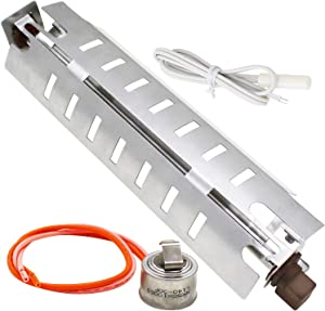 S-Union WR51X10055 Refrigerator Defrost Heater, WR55X10025 Temperature Sensor and WR50X10068 Defrost Thermostat Kit for General Electric Hotpoint Kenmore Refrigerators