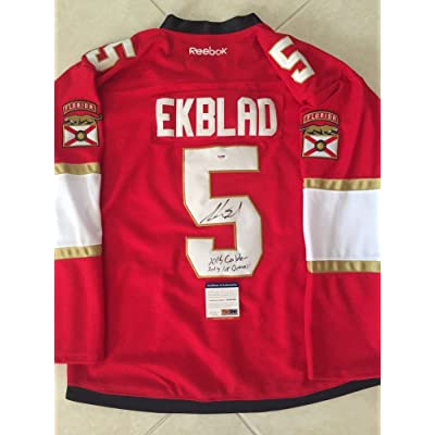 size 40 735d0 8f79b Aaron Ekblad Signed Auto Florida Panthers Jersey 1St Overall ...