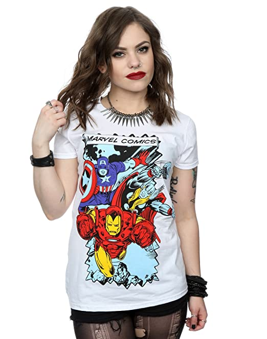 Marvel mujer Comic Characters Camiseta X-Small Blanco