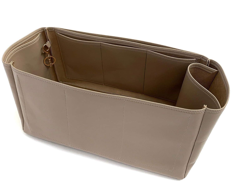 b0543935 Purse Organizer Insert for LV Neverfull Handbag - Fits inside Louis Vuitton  Neverfull GM bag - Deluxe Leather (GM, Beige)