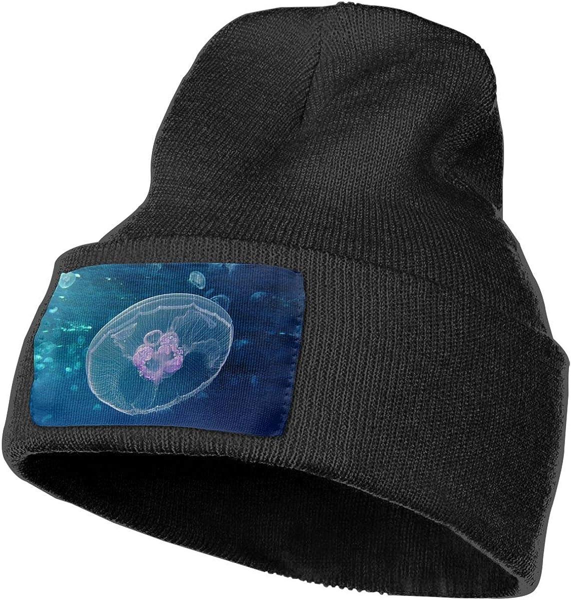 QZqDQ Moon Jellyfish Unisex Fashion Knitted Hat Luxury Hip-Hop Cap