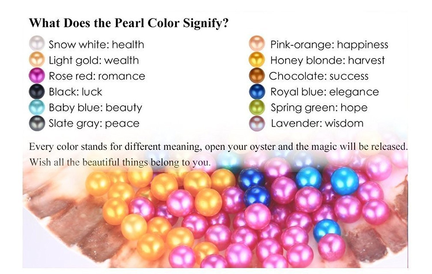 50PC Saltwater Akoya Pearls Oysters with 7-8mm Love Wish Pearl Inside Mixed Colors, Jewelry Making or Birthday Gifts by COOCLE (Image #2)