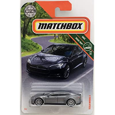 Matchbox Mattel Mainline MBX Road Trip - Tesla Model S: Toys & Games