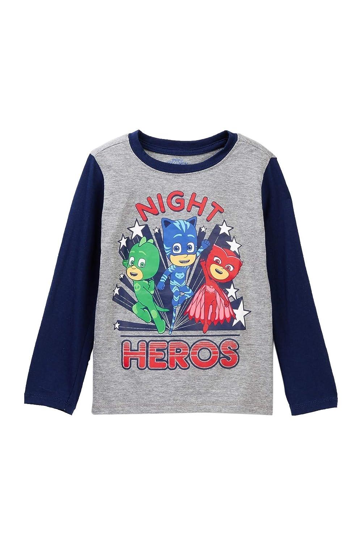 PJMASKS Heroes Boys Toddler Long Sleeve Tee T-Shirt Grey