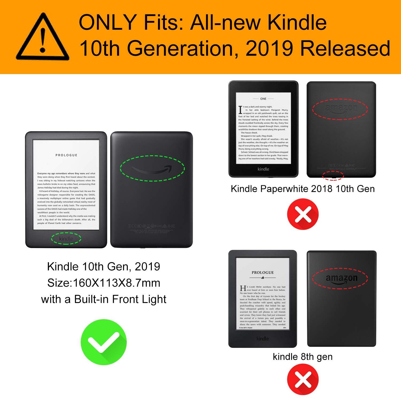 WALNEW Amazon 10. Generation-2019 - Funda de Piel para Kindle 2019 ...