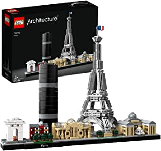 LEGO Architecture Skyline Collection 21044 Paris Skyline Building Kit with Eiffel Tower Model and Other Paris City Architecture for Build and Display