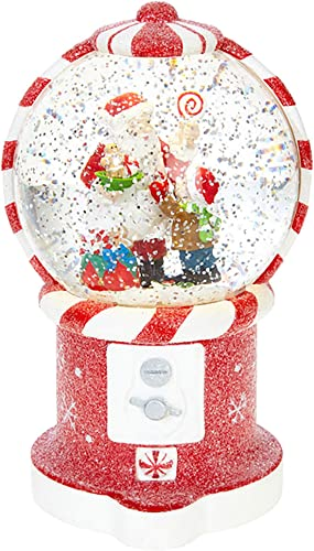 Raz Imports 7.5 Santa in Gumball Machine Lighted Water Snow Globe