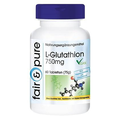 L-Glutatión 750mg – Fair&Pure – Fabricado en Alemania -60 comprimidos – gran dosificación