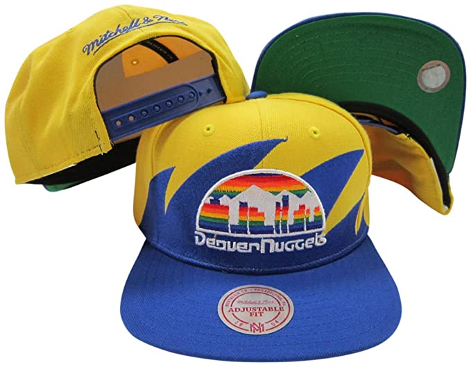 08fd47ac81d Image Unavailable. Image not available for. Color  Denver Nuggets Mitchell    Ness Snapback Adjustable Plastic Snap Back ...