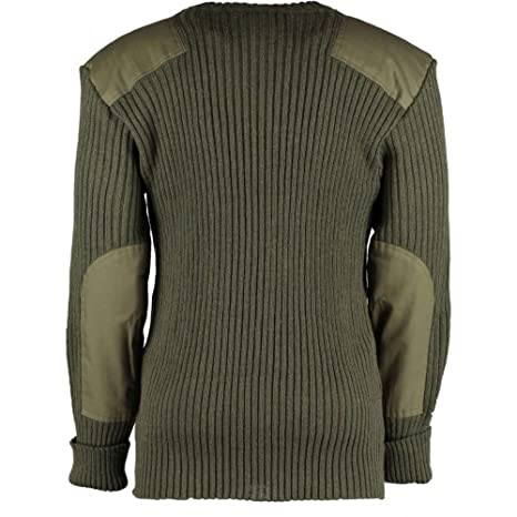 e18d7aeb12 Amazon.com  British Commando Sweater Woolly Pully Crew Neck  Clothing