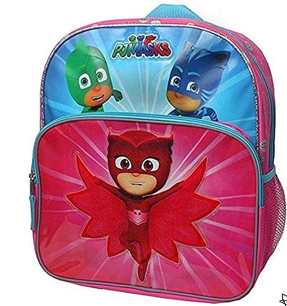 Disney Junior PJ máscaras Owlette, Gekko y Catboy salvar el día 14 pulgadas Mochila con