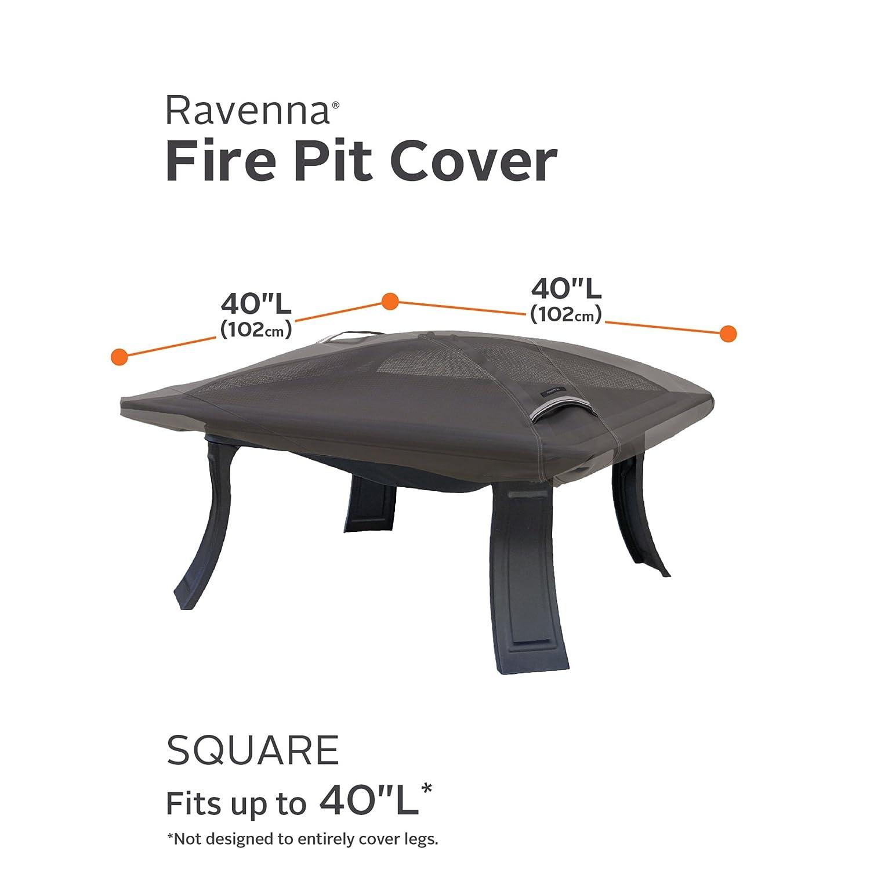 Amazon Classic Accessories Ravenna Square Fire Pit Cover