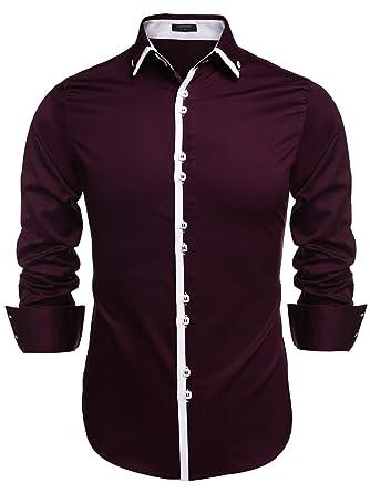 Wine Color Men's Dress Shirt