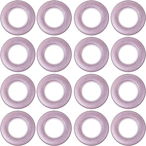 Brown Saim Curtain Grommets Eyelet Rings Plastic Inner Diameter 1.65 Inch for Window Shower Locker Room Door Curtains Rods 16Pcs