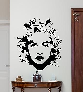 Madonna Wall Decal Pop Star Madonna Louise Ciccone Singer Vinyl Sticker  Music Wall Art Design Music