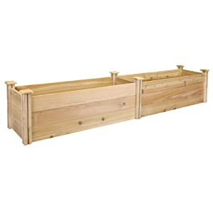 "Greenes Fence Premium Cedar Raised Garden Bed, 16"" x 96"" x 16.5"""