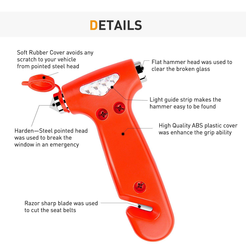 Magnificent Gooacc Seatbelt Cutter Auto Window Breaker Emergency Rescue Escape Tool Car Safety Hammer 2 Pack Uwap Interior Chair Design Uwaporg