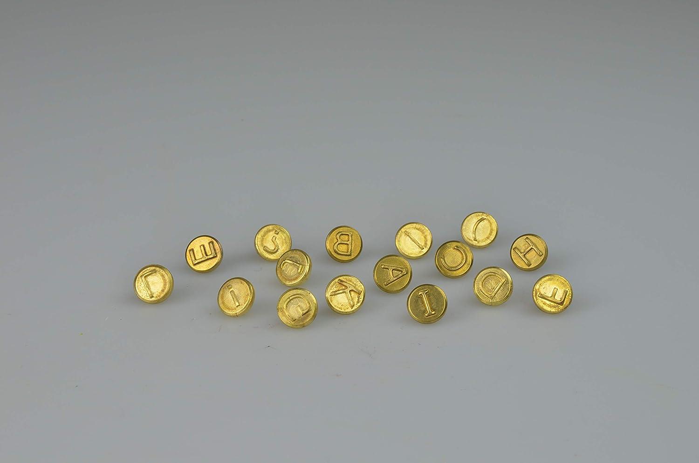 Brandmalkolben mit 9 verschiedenen Aufs/ätzen /& Pebaro 20400 16-teilig Brennstempel Buchstaben A L