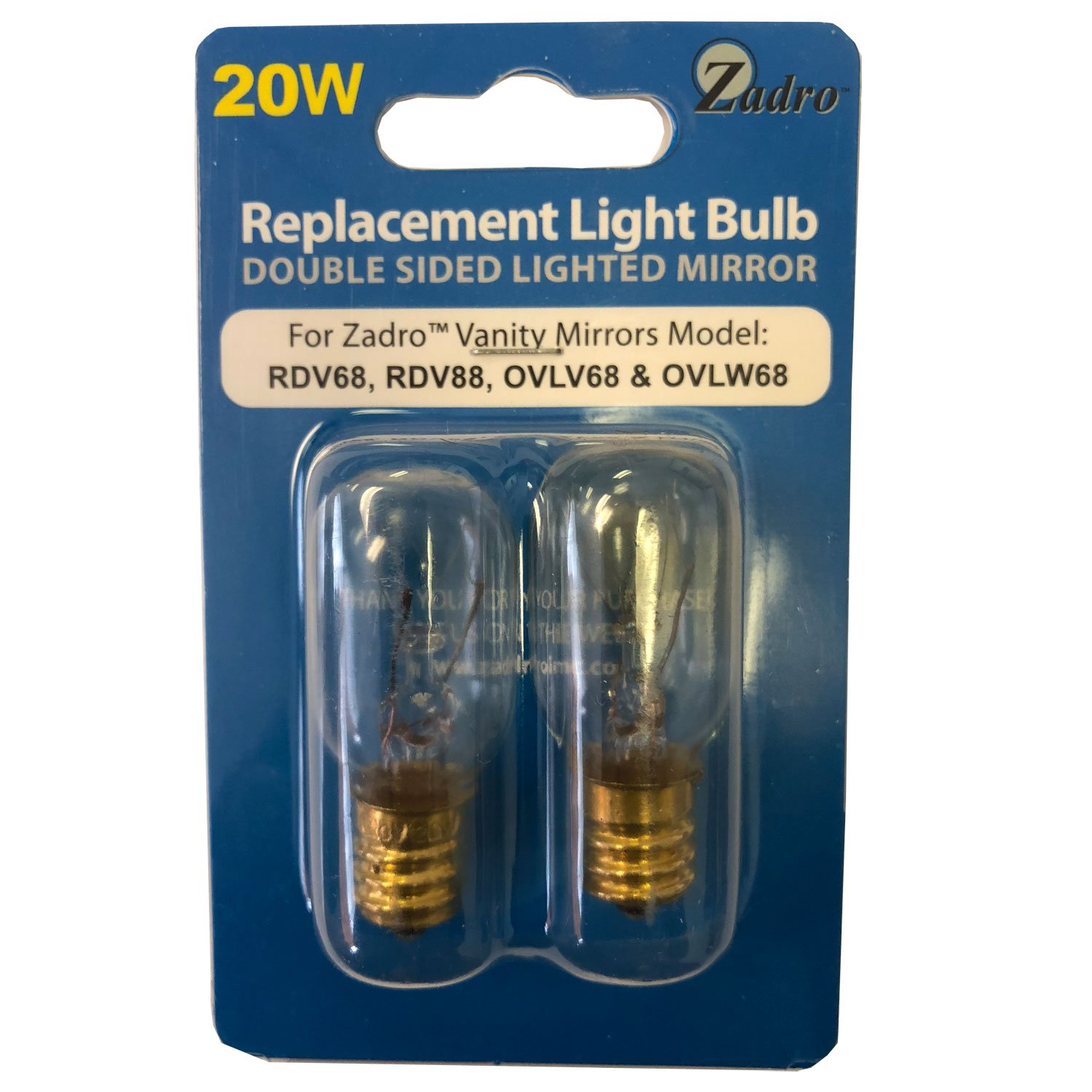 Zadro 20 Watt Replacement Light Bulb For Zadro Vanity