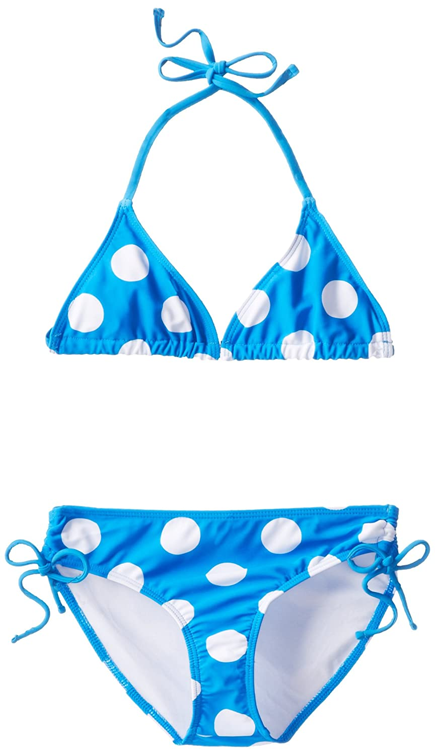 Kanu Surf Big Girls' Beachball Bikini Swimsuit Blue 8 Kanu Surf Girls 7-16
