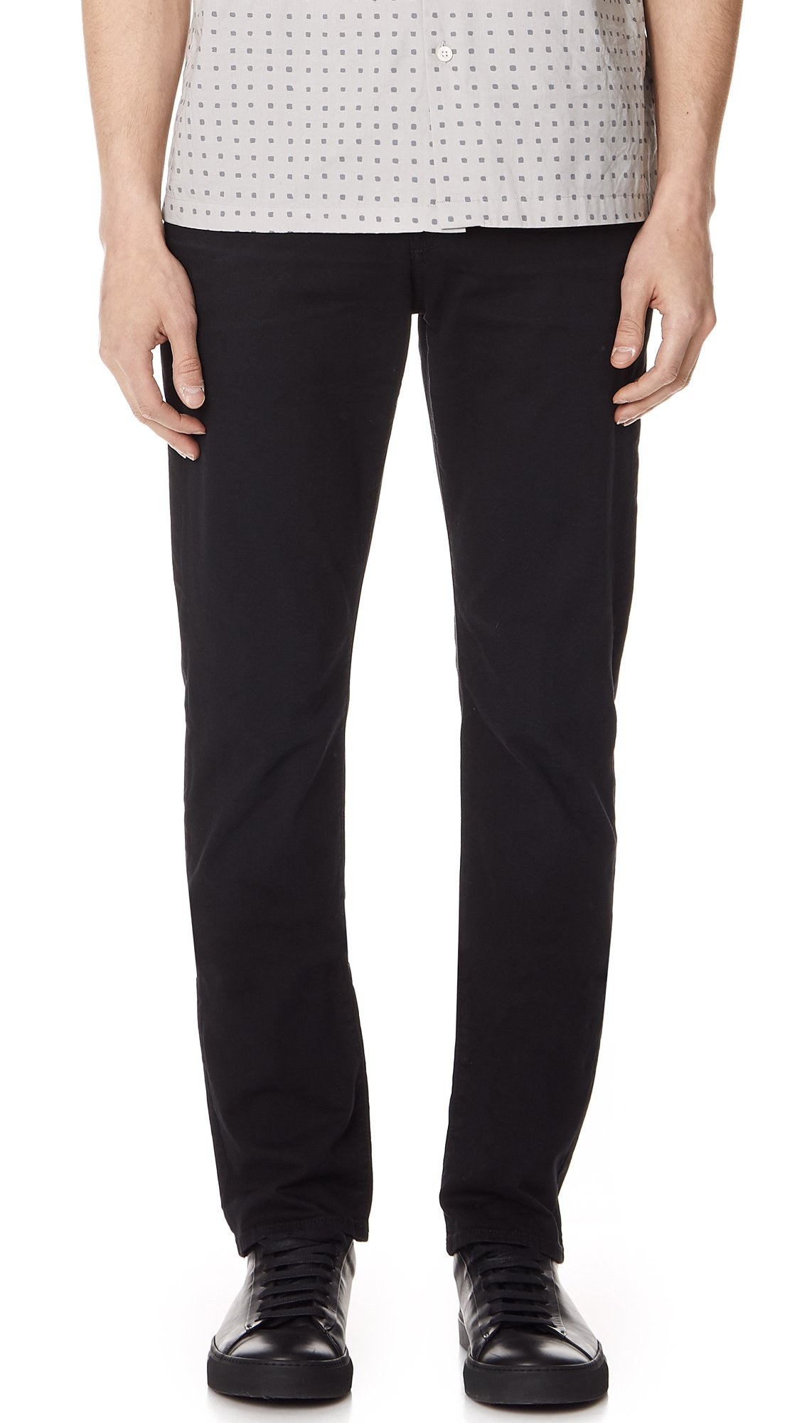 7 For All Mankind Men's The Straight Leg Chino with Clean Back Pocket, Deep Sea, 32