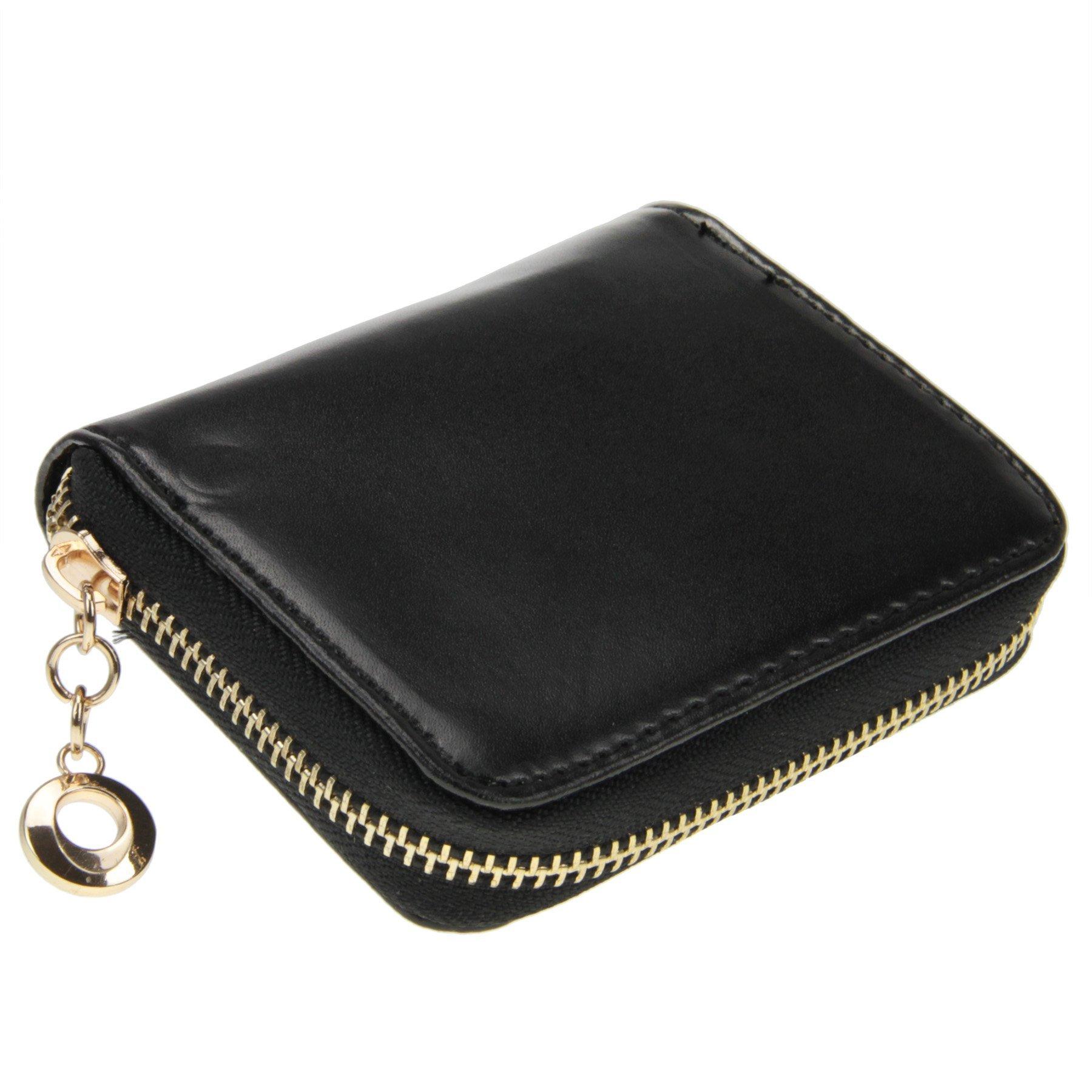 Women Girls Cute Bowknot Waterproof PU Leather Fold Mini Short Wallet Coin Purse Zipper Card Case Holder Clutch Small Handbag Nice Gift by Fakeface (Image #4)
