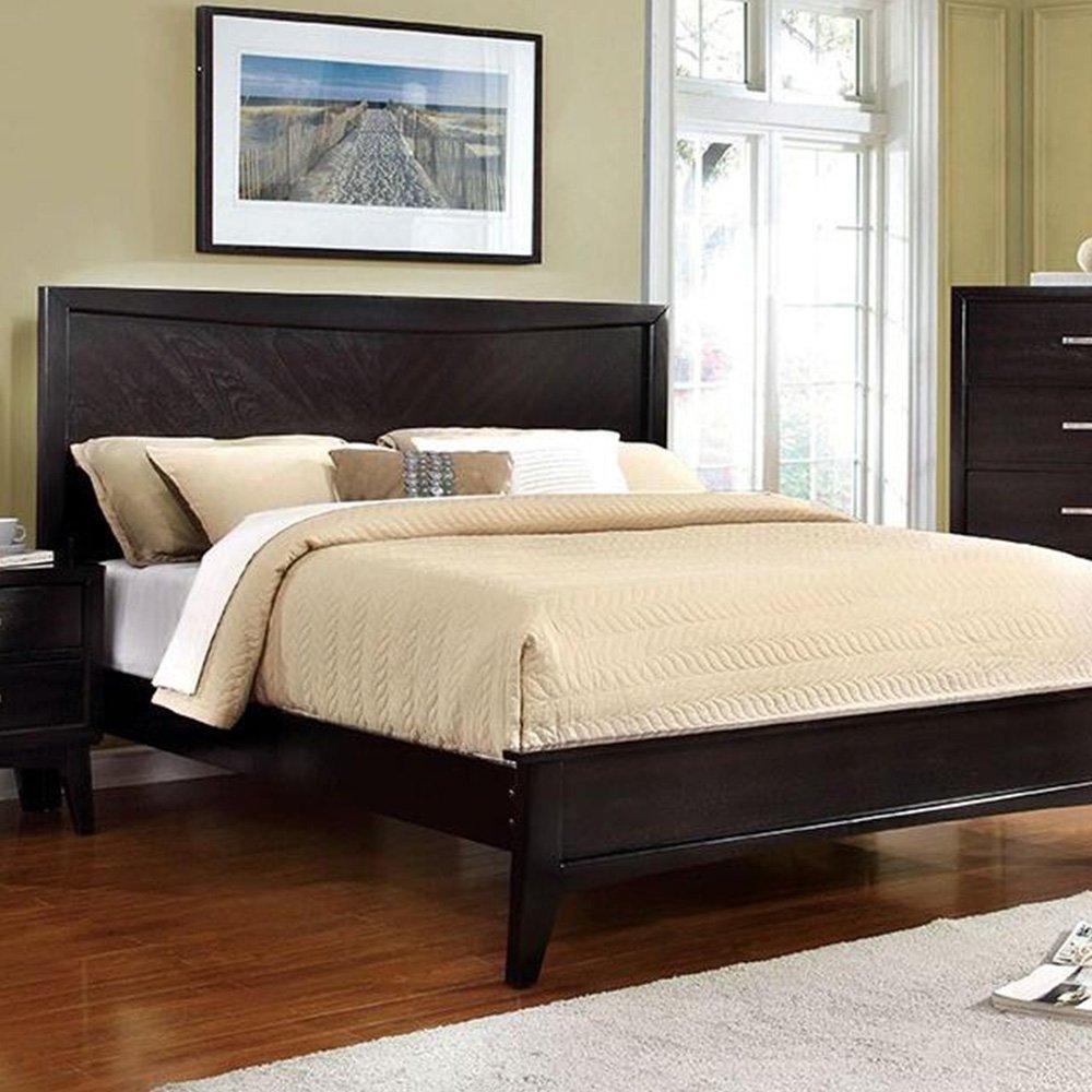 Amazon com 247shopathome idf 7792ex ck 6pc bedroom set california king espresso kitchen dining