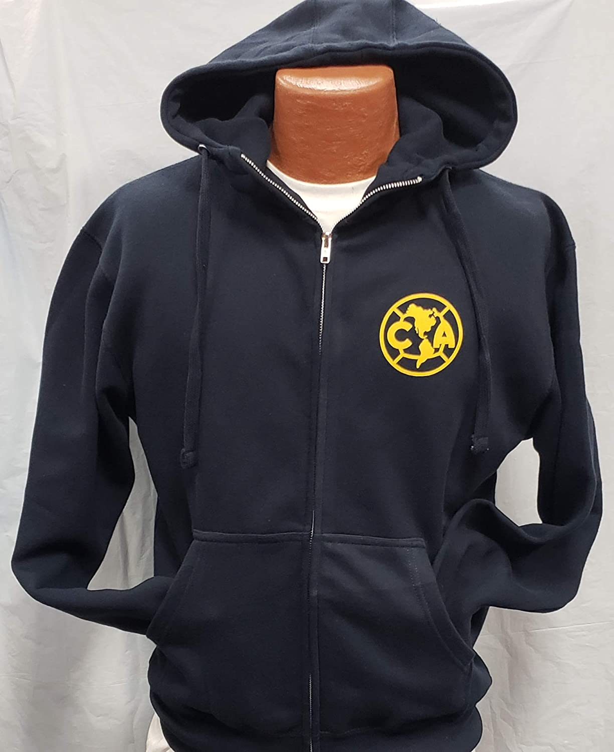 Club Deportivo America Zip Up Hoodie Sudadera con Gorro Liga MX Size S : Sports & Outdoors