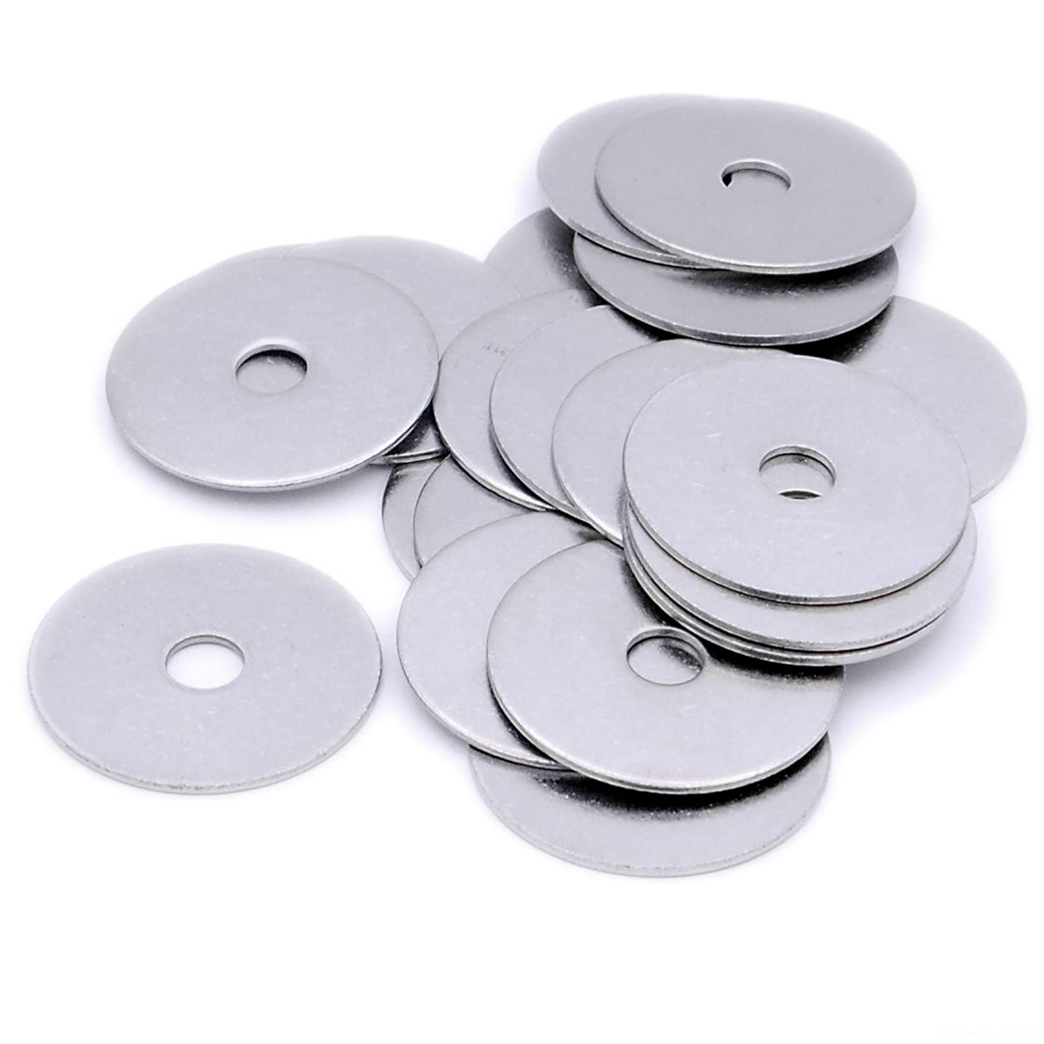 M6 (6mm x 45mm OD) Oversized Mudguard Washer - Stainless Steel (A2) (Pack of 10) Singularity Supplies Ltd