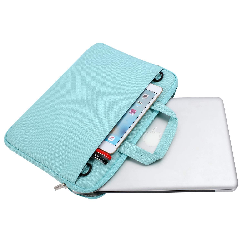 Black Polyester Flapover Briefcase Handbag Sleeve Case MOSISO Laptop Shoulder Bag Compatible 15-15.6 Inch MacBook Pro Retina Dell HP Acer Lenovo Chromebook Notebook Ultrabook MacBook Pro