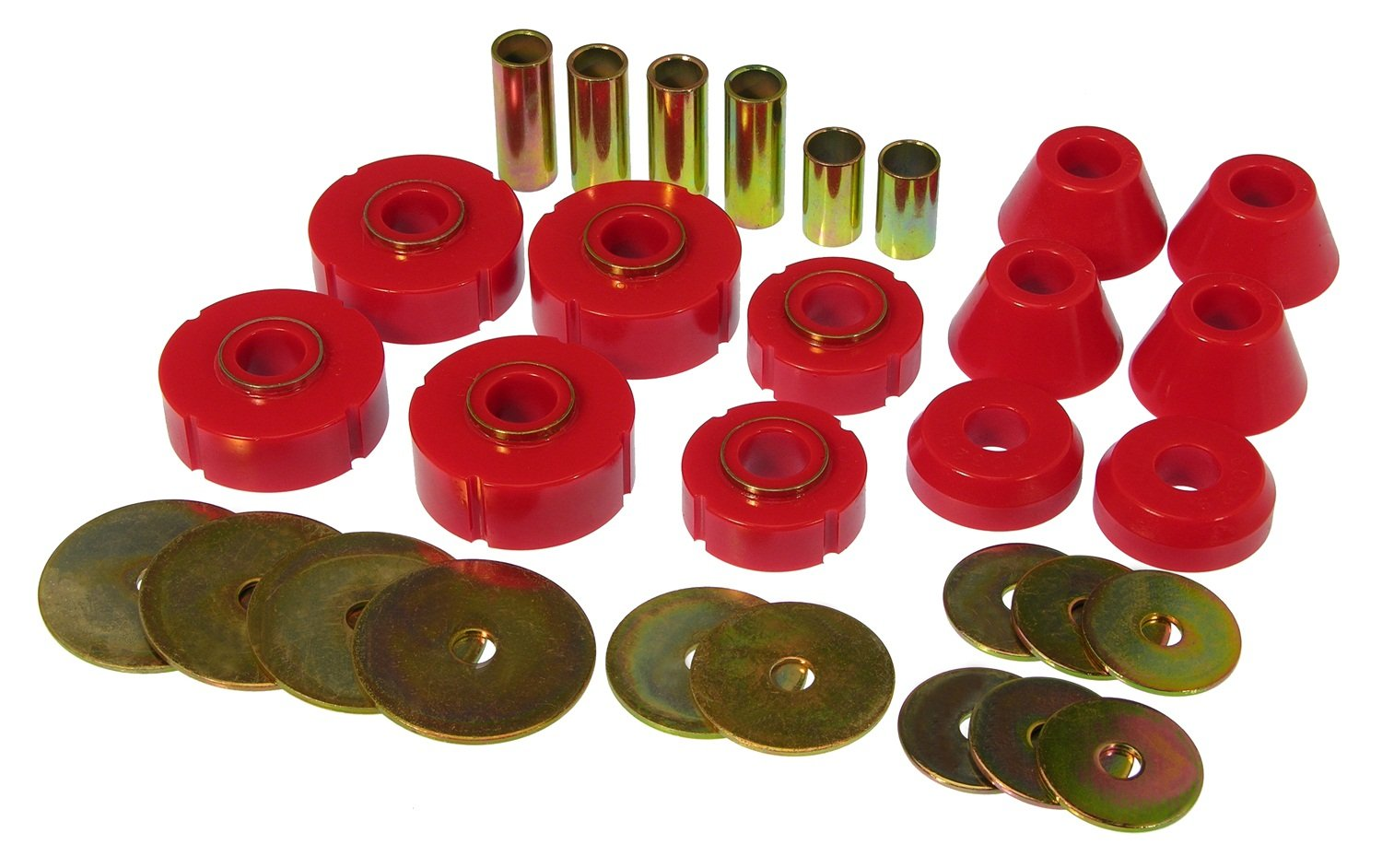Prothane 7-102 Red Body and Standard Cab Mount Bushing Kit - 12 Piece by Prothane
