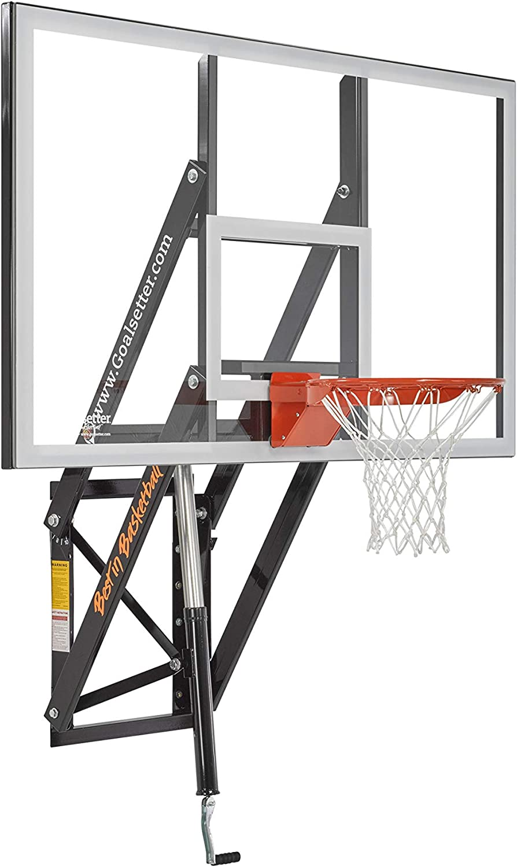 Goalsetter 54 Adjustable Tempered Glass Backboard With Single Static Rim Sports Outdoors Dprd Tasikmalayakab Go Id