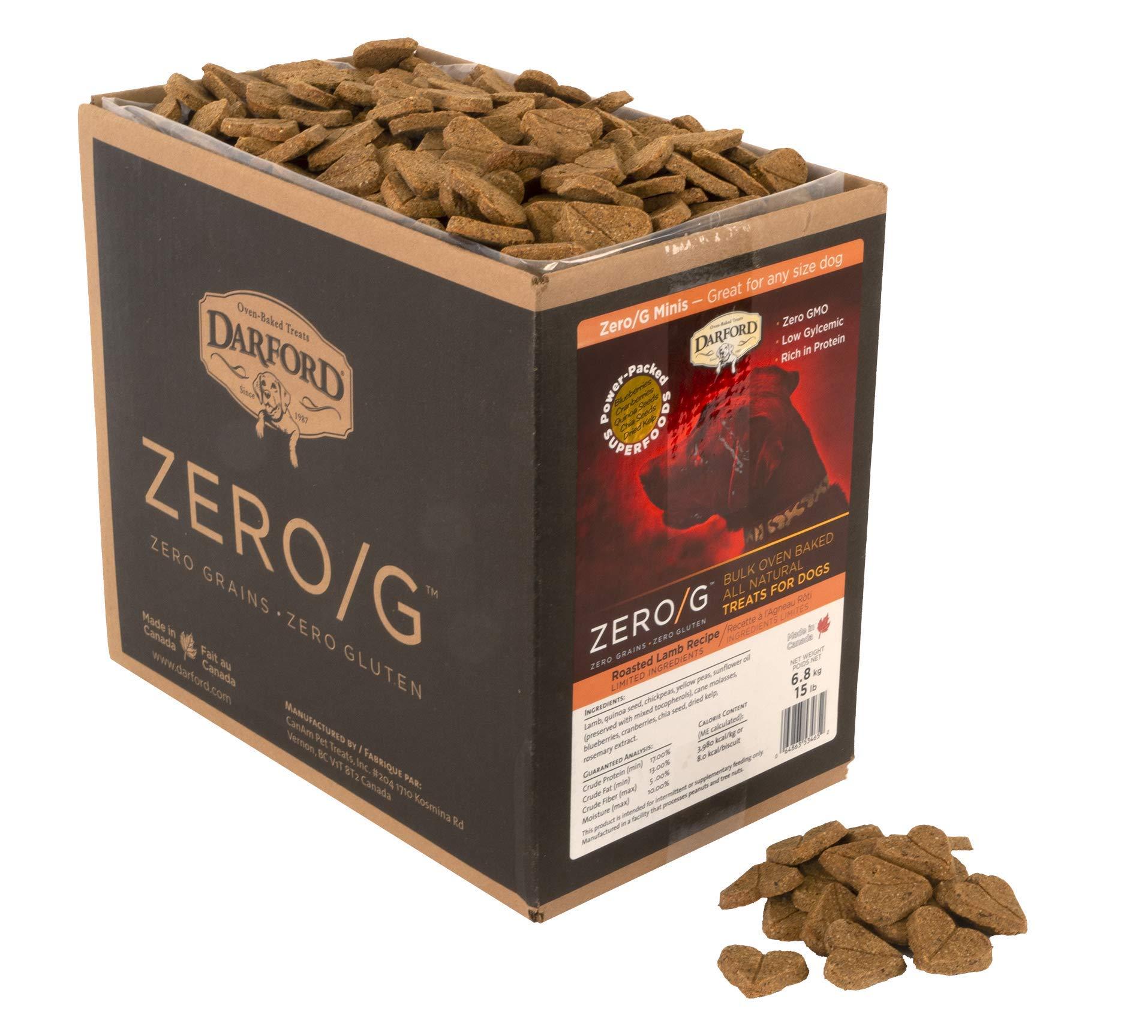 Zero/G Roasted Lamb Dog Treats, Mini Size/15 lb by Darford