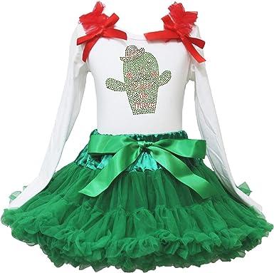 Cinco de Mayo Vestido Cactus Blanco L/S Camiseta Verde Chevron Falda niña Disfraz 1 – 8Y: Amazon.es: Ropa y accesorios