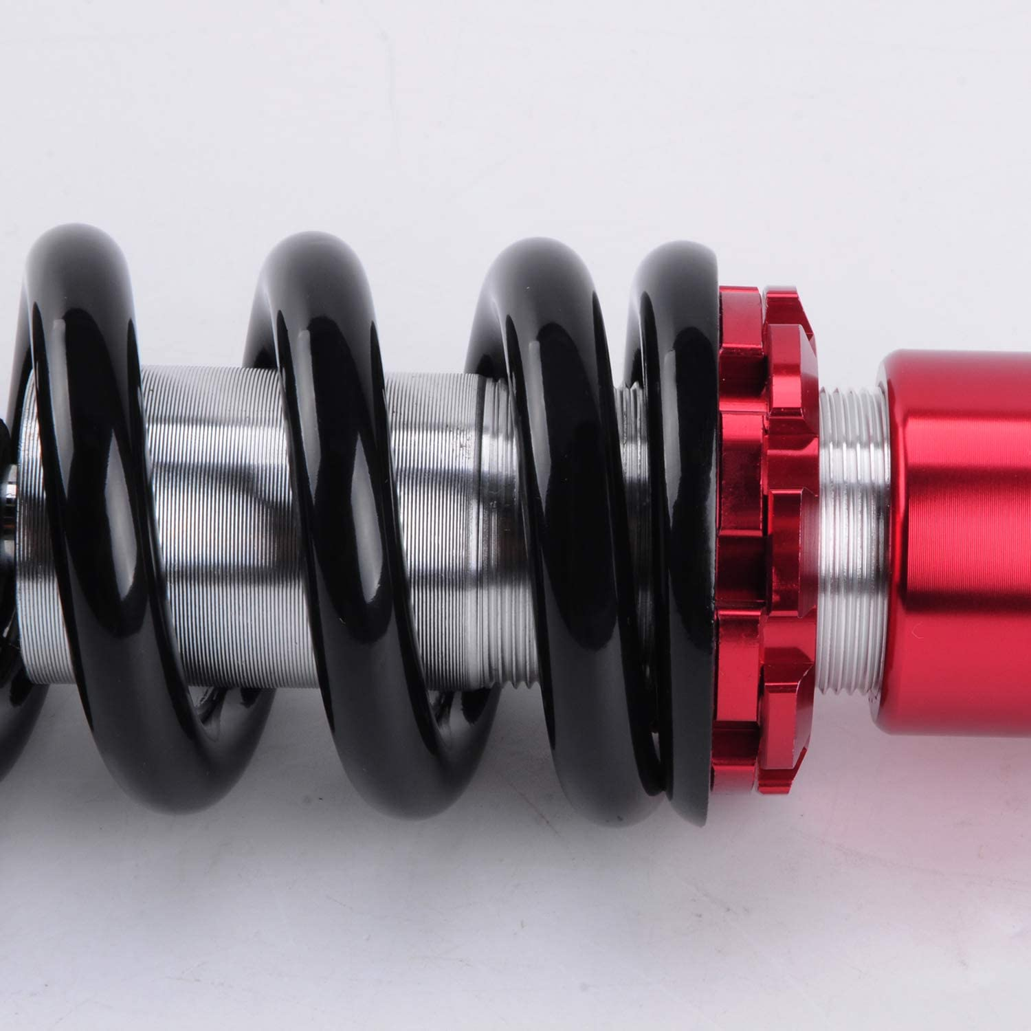 Sunny Motorcycles New One Piece 260mm 10 Motorcycle ATV Scooter Shock Absorber Rear Suspension Black Red