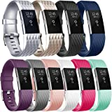 Vancle Replacement Bands Compatible for Fitbit Charge 2, Classic & Special Edition Adjustable Sport Wristbands for Women Men