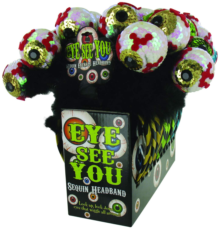 DM Merchandising Halloween Sequin Eyeball Headband(pack Of 48)
